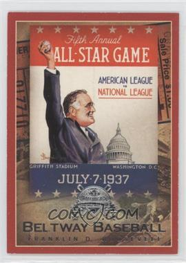 2005 Fleer National Pastime - Beltway Baseball #9 BB - Franklin D. Roosevelt /202