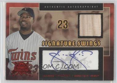 2005 Fleer National Pastime - Signature Swings - Red Bats [Memorabilia] #SSAB-SS - Shannon Stewart