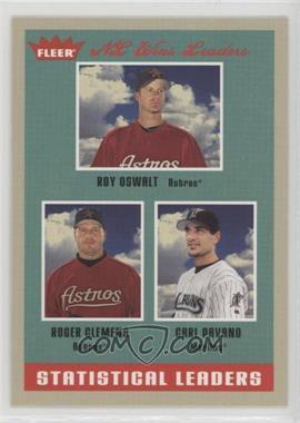2005 Fleer Tradition - [Base] #4 - Roy Oswalt, Carl Pavano, Roger Clemens