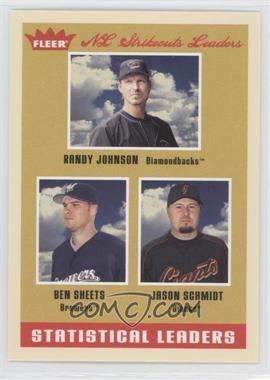 2005 Fleer Tradition - [Base] #6 - Ben Sheets, Jason Schmidt, Randy Johnson