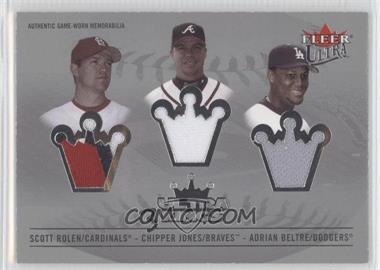 2005 Fleer Ultra - 3 Kings Jersey #U3K-R/J/B - Scott Rolen /33