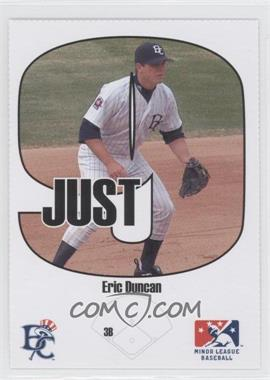 2005 Just Minors - Beckett Insert Just 9 #5 - Eric Duncan
