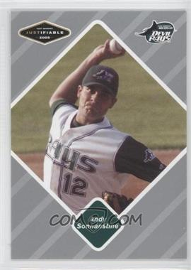 2005 Just Minors - Justifiable - Silver #76 - Andy Sonnanstine /200