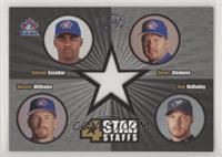 Kelvim Escobar, Roger Clemens, Woody Williams, Roy Halladay [Noted] #/250