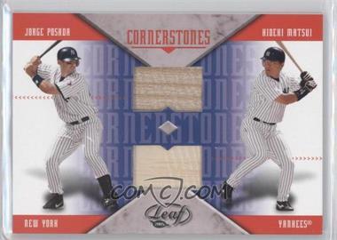 2005 Leaf - Cornerstones - Bats [Memorabilia] #CM2 - Jorge Posada, Hideki Matsui
