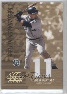 2005 Leaf Century Collection - [Base] - Materials Die-Cut Jersey Number [Memorabilia] #59 - Edgar Martinez /11