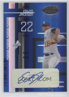 2005 Leaf Certified Materials - [Base] - Mirror Blue Signatures [Autographed] #79 - Edwin Jackson /100