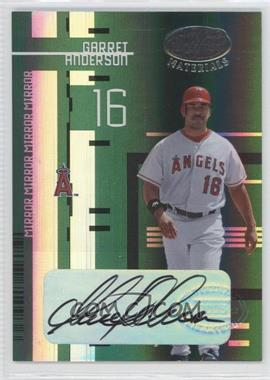 2005 Leaf Certified Materials - [Base] - Mirror Emerald Signatures [Autographed] #44 - Garret Anderson /5