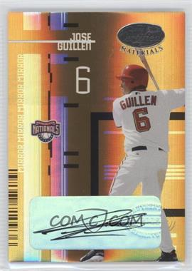 2005 Leaf Certified Materials - [Base] - Mirror Gold Signatures [Autographed] #76 - Jose Guillen /25