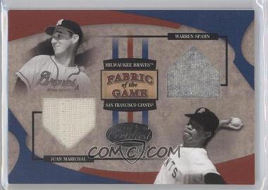 2005 Leaf Certified Materials - Fabric of the Game #FG-174 - Juan Marichal, Warren Spahn /50