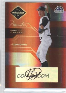 2005 Leaf Limited - [Base] - Monikers Bronze [Autographed] #198 - Ubaldo Jimenez /50