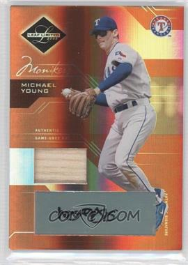 2005 Leaf Limited - [Base] - Monikers Bronze Materials Bats [Autographed] [Memorabilia] #38 - Michael Young /100