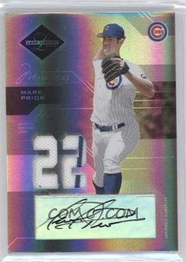 2005 Leaf Limited - [Base] - Monikers Silver Materials Jersey Number [Autographed] [Memorabilia] #13 - Mark Prior /25