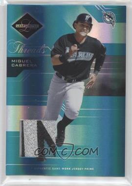 2005 Leaf Limited - [Base] - Threads Jerseys Prime [Memorabilia] #10 - Miguel Cabrera /100