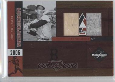 2005 Leaf Limited - Lumberjacks - Combo Materials [Memorabilia] #LJ-37 - Ted Williams /10