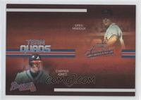 Chipper Jones, David Justice, Greg Maddux, Tom Glavine #/100