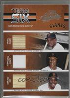 Willie Mays, Matt Williams, J.T. Snow, Deivi Cruz, Willie McCovey, Joe Morgan /…