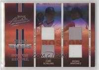 Pedro Martinez, Curt Schilling [Noted] #/50
