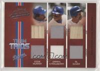 Al Oliver, Darryl Strawberry, Eddie Murray #/100