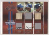Darryl Strawberry, Al Oliver, Eddie Murray [Good to VG‑EX] #/35