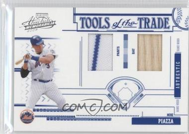 2005 Playoff Absolute Memorabilia - Tools of the Trade - Blue Double Materials [Memorabilia] #TT-155 - Mike Piazza /150