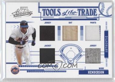 2005 Playoff Absolute Memorabilia - Tools of the Trade - Blue Five Materials [Memorabilia] #TT-168 - Rickey Henderson /150