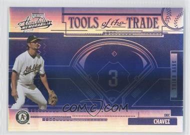 2005 Playoff Absolute Memorabilia - Tools of the Trade - Reverse Blue Spectrum #TT-98 - Eric Chavez /10