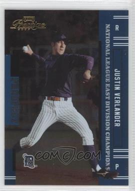 2005 Playoff Prestige - [Base] - Playoff Champions National League East #151 - Justin Verlander