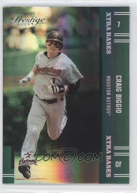 2005 Playoff Prestige - [Base] - Xtra Bases Green #7 - Craig Biggio /50