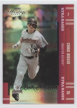2005 Playoff Prestige - [Base] - Xtra Bases Red #7 - Craig Biggio /150