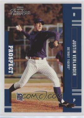 2005 Playoff Prestige - [Base] #151 - Justin Verlander