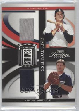 2005 Playoff Prestige - Changing Stripes - Jerseys [Memorabilia] #C-22 - Carlton Fisk /250