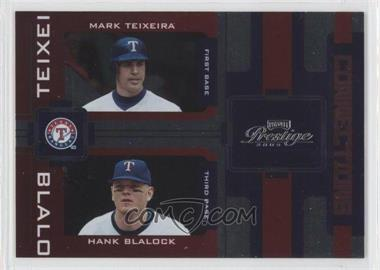 2005 Playoff Prestige - Connections - Foil #C-21 - Mark Teixeira, Hank Blalock /100