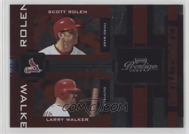 2005 Playoff Prestige - Connections - Foil #C-7 - Scott Rolen, Larry Walker /100