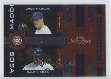 2005 Playoff Prestige - Connections - Foil #C-9 - Greg Maddux, Sammy Sosa /100
