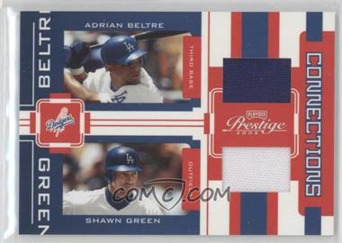 2005 Playoff Prestige - Connections - Jerseys [Memorabilia] #C-12 - Adrian Beltre, Shawn Green /250