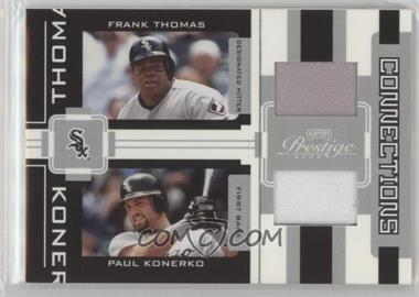 2005 Playoff Prestige - Connections - Jerseys [Memorabilia] #C-17 - Frank Thomas, Paul Konerko /250