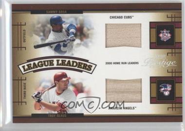 2005 Playoff Prestige - League Leaders Double - Bats [Memorabilia] #LLD-5 - Sammy Sosa, Troy Glaus /250