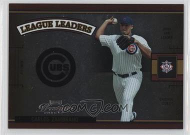 2005 Playoff Prestige - League Leaders Single - Foil #LLS-9 - Carlos Zambrano /100