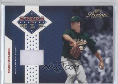 2005 Playoff Prestige - Stars of MLB - Jerseys [Memorabilia] #MLB-11 - Mark Mulder /100