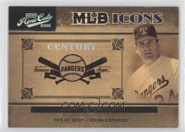 2005 Playoff Prime Cuts - MLB Icons - Century Silver #MLB-31 - Nolan Ryan /50