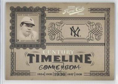 2005 Playoff Prime Cuts - Timeline - Century Silver #T-21 - Babe Ruth /50