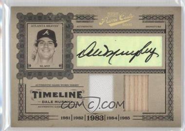 2005 Playoff Prime Cuts - Timeline - Materials Combos Jerseys/Bats Autographs [Autographed] [Memorabilia] #T-1 - Dale Murphy /10