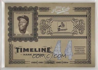 2005 Playoff Prime Cuts - Timeline - Materials Jersey Number Jerseys [Memorabilia] #T-13 - Hank Aaron /10