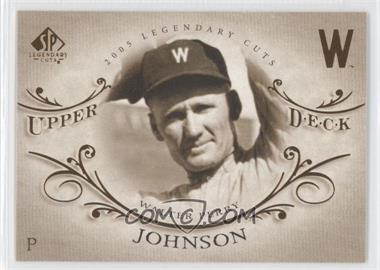 2005 SP Legendary Cuts - [Base] #85 - Walter Johnson - Courtesy of COMC.com