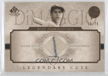 2005 SP Legendary Cuts - Legendary Cuts - Game-Used [Memorabilia] #LC-JD - Joe DiMaggio /75