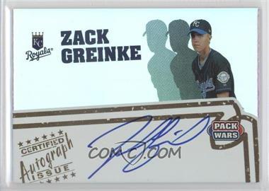 2005 Topps Pack Wars - Autographs #PWA-ZG - Zack Greinke