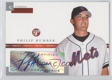 2005 Topps Pristine - Personal Endorsements Common #PEC-PH - Philip Humber /497