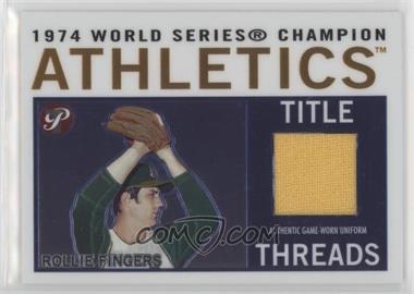 2005 Topps Pristine Legends - Title Threads Relics #TT-RF - Rollie Fingers