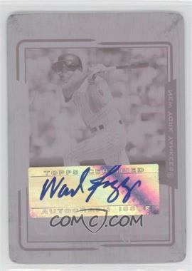 2005 Topps Retired Signature Edition - Autographs - Printing Plate Magenta #TA-WB - Wade Boggs /1